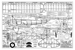Stearman C3B model airplane plan